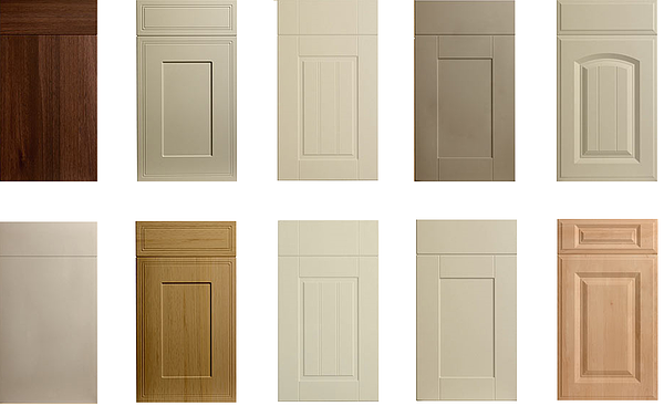 Designer range kitchen doors - Available in 20 colours with wood grain & solid colours – stylish replacement doors to complete your kitchen - from Kitchen Makeover, Ireland