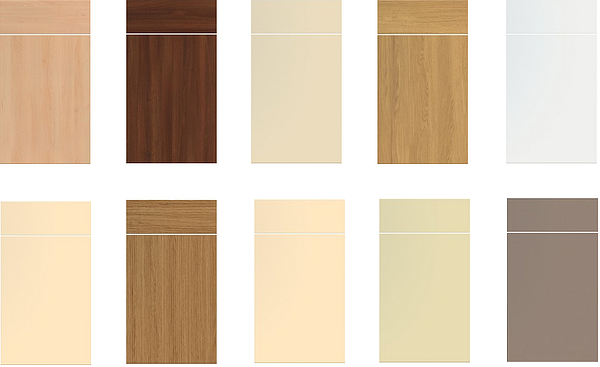 Kitchen Doors, Laois | Available in 20 colours with wood grain & solid colours –replacement doors to complete your kitchen - from Kitchen Makeover, Ireland